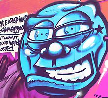 Blue Face Man - Graffiti - Street Art by NicNik Designs