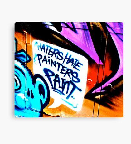 Melbourne Graffiti Street Art - Haters Hate Painters Paint Canvas Print