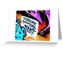 Melbourne Graffiti Street Art - Haters Hate Painters Paint Greeting Card