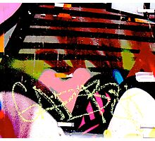 Graffiti heart - Graffiti - Street Art Photographic Print