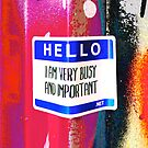 Hello I am very important - Graffiti - Street Art by NicNik Designs