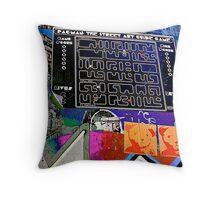 Pac Man graffiti lane map - Graffiti - Street Art Throw Pillow