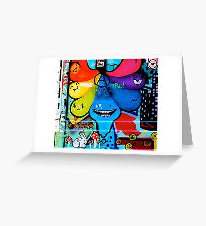 Colourful tear shaped blobs - Graffiti - Street Art Greeting Card