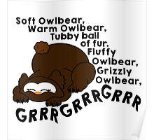 Soft Owlbear, Tubby Owlbear Poster