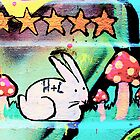 Happy bunny rabbit - Graffiti - Street Art by NicNik Designs