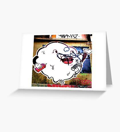 Cloudy blob - Graffiti - Street Art Greeting Card