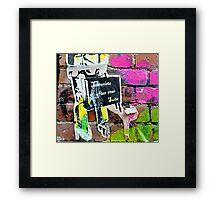 Terrorists in suits - Graffiti - Street Art Framed Print