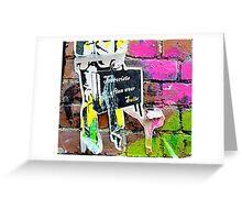 Terrorists in suits - Graffiti - Street Art Greeting Card