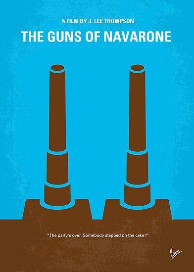 No168 My The Guns of Navarone minimal movie poster by Chungkong