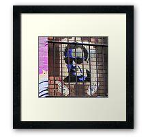 Melbourne Graffiti Street Art - Bono behind bars Framed Print