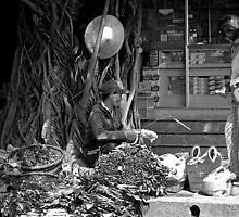 footpath traders, Hoi An, Vietnam.  by geof