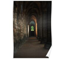Kirkstall Abbey Cloisters Poster