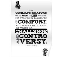 Macho Typographic Quote #1 Poster
