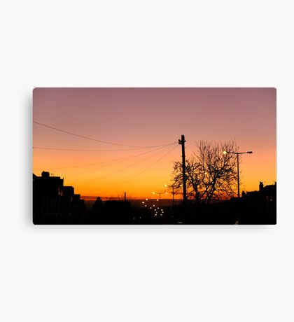 Evening Road Canvas Print
