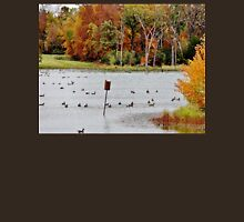 Geese and Ducks at the Pond Unisex T-Shirt
