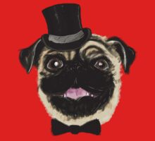 Pug in a top hat Kids Clothes