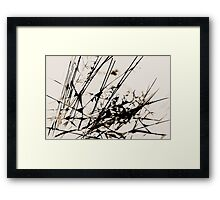Strike Out Neutral Colors Abstract Framed Print