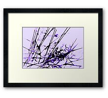 Strike Out Purple and Black Abstract Framed Print