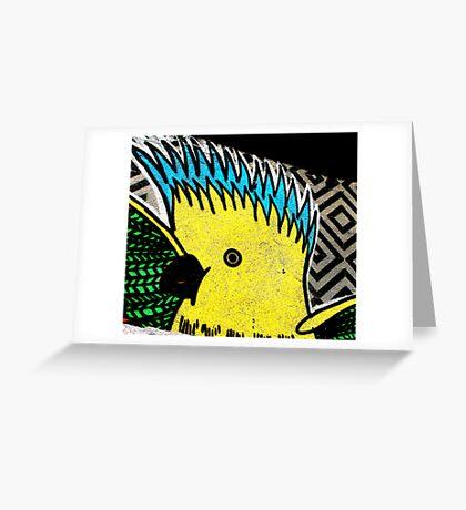 Galah - Graffiti - Street Art Greeting Card