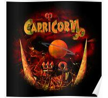 Capricorn Gothic Zodiac by Valxart Poster