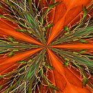 Abstract Orange And Green Design by SmilinEyes