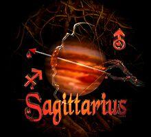 Sagittarius gothic zodiac astrology by Valxart by Valxart