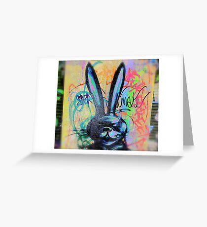 Angry Scary bunny Rabbit - Graffiti - Street Art Greeting Card