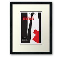 Reservoir Dogs minimalist movie poster Framed Print