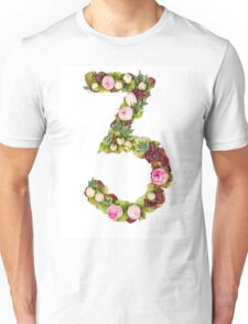 The number Three Part of a set of letters, Numbers and symbols Unisex T-Shirt