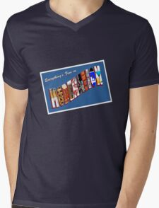 Everything Is Fine In Moderation Mens V-Neck T-Shirt