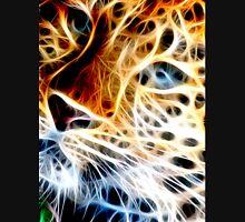 Fractal Cheetah Face Design By Chris McCabe - DRAGAN GRAFIX T-Shirt