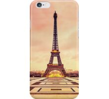 Aiffel Tower Sunset iPhone Case/Skin