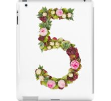 The number Five Part of a set of letters, Numbers and symbols iPad Case/Skin
