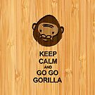 Bamboo Look & Engraved Keep Calm and Go Go Gorilla by scottorz