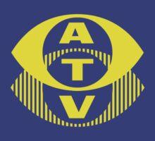 Retro TV ATV in a bright yellow T-Shirt