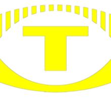 Retro TV ATV in a bright yellow Sticker