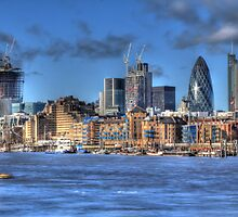 The City of London as viewed from The River Thames by sharesomephotos