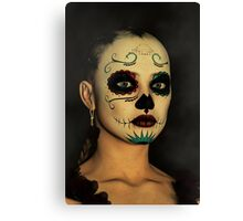 Sugar Skull - Day Of The Dead Face Paint Canvas Print