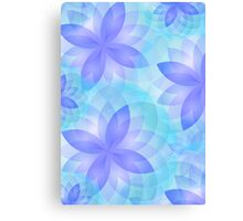 Case abstract lotus flower Canvas Print