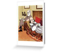 Freud analysing Shakespeare Greeting Card