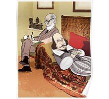 Freud analysing Shakespeare Poster