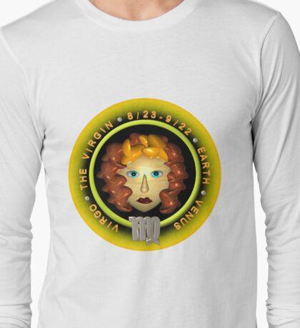 Virgo zodiac astrology by Valxart.com  Long Sleeve T-Shirt