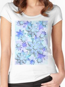 Case abstract lotus flowers Women's Fitted Scoop T-Shirt