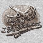 I Dig Dinosaurs Triceratops Skull by MudgeStudios