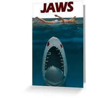 A Plastic World - Jaws Greeting Card