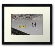 By golly Morse, bring that machine over here….I think it's some sort of code!! Framed Print