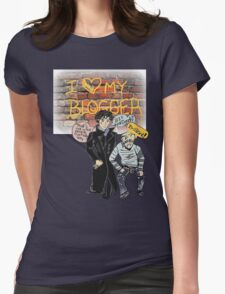 Sherlock Manga Ship 2 Womens Fitted T-Shirt