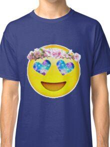 Flower Crown Galaxy Eyes Emoji Classic T-Shirt
