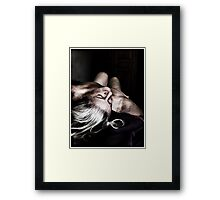 Over The Shoulder Framed Print