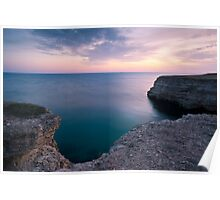 Evening seascape Poster